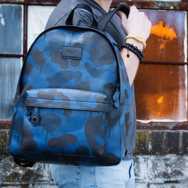 12 Blue Camouflage Bag