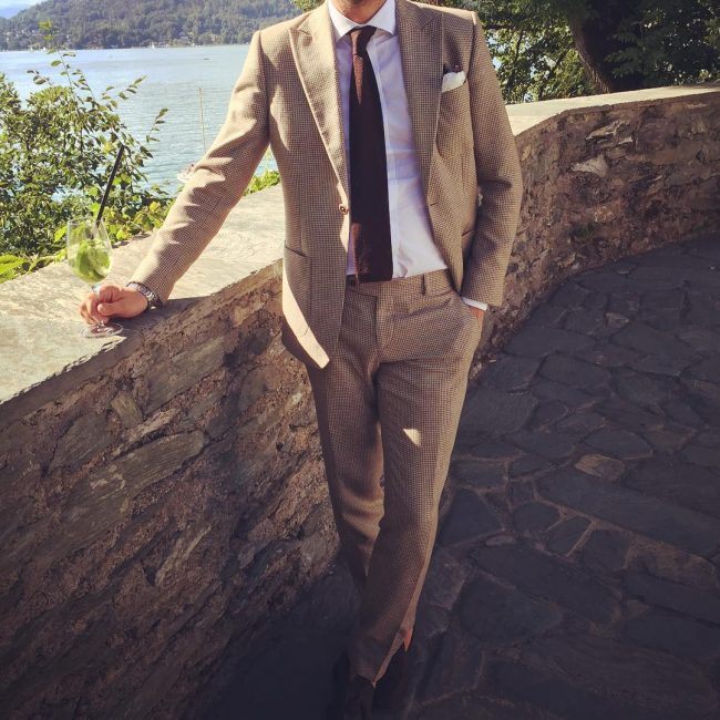 12 Light Brown Suit