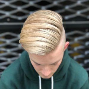 12 Long Blond Side Wave Undercut