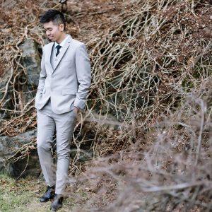 12 Pale Grey 3-Piece Suit
