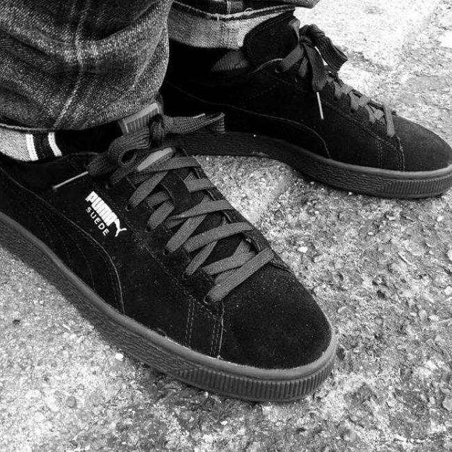 13 Black Suede Canvas & Grey Jeans Pants