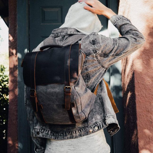 13 Classy Handmade Double Buckle Backpack