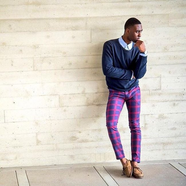 13 Colored Plaid Pants