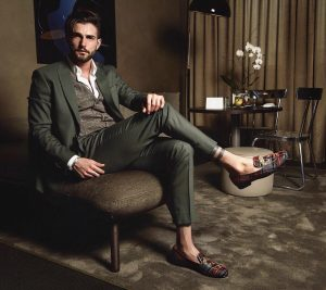 13 Green Suit & Checkered Loafers