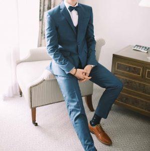 13 Royal Blue Three Piece Suit