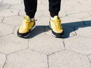 13 Stripped Black Sneakers
