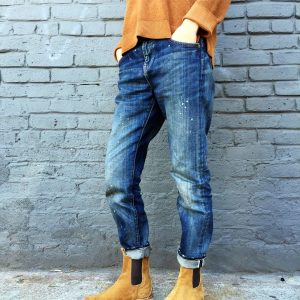 13 Washed Denim and Chelsea Boots