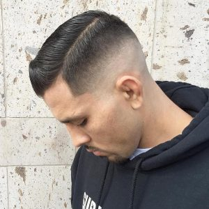 14 Bold Side Sweep With Skin Fade