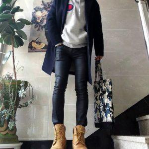 14 Dry Slim Fit Jeans & Light Grey Hoodie