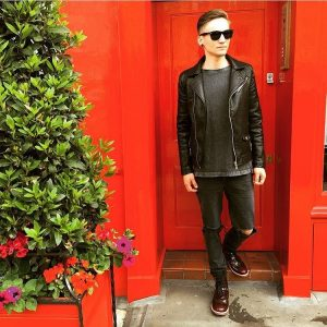 14 Leather Jacket and Oxblood Shoes