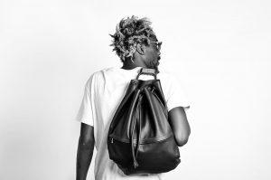 15 Black Backpack & White T-Shirt