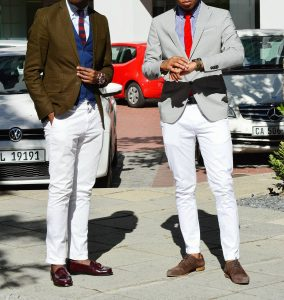 15 Brown Loafers & White Pants