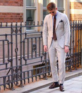 15 Cream White Suit