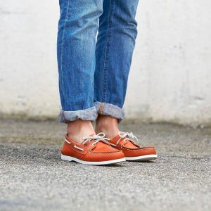 15 Cuff Jeans with Sperry Sneakers