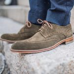 15 Grey Suede Brogue Shoes & Blue Trousers