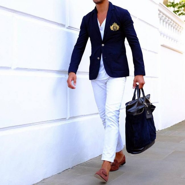 White dress pants Black and white pants White jeans in winter Navy and White Home Decor Skinny dress pants Navy blue dress shirt Plain BLACK White trousers Skinny Jeans Forward A chambray shirt, black blazer, white dress pants, and black pointy toe flats for work.
