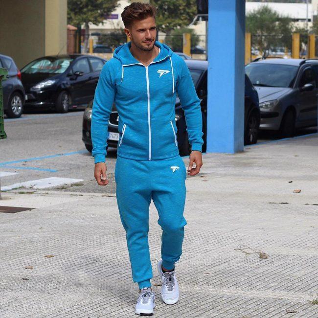 15 Sky Blue Joggers Suit
