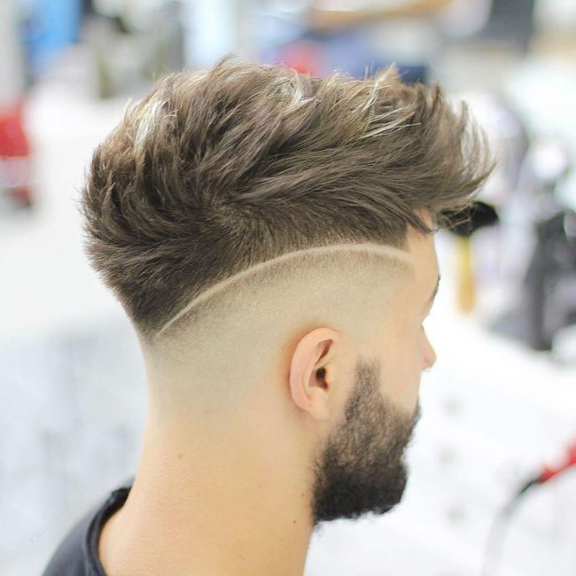 15 Smoothly Spiked Hair with Sharp Side Parting