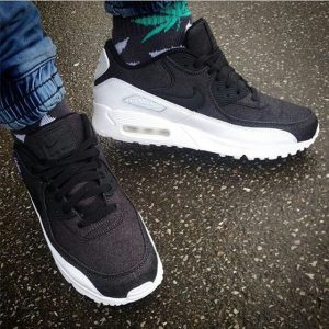 15 Thick Soled Black Fade and White Sneakers