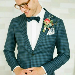 15 Trendy Checked Green Suit