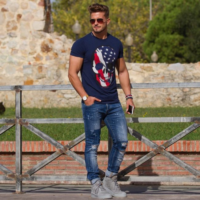 16 American Flag Skull Head Tees