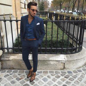 16 Blue Shirt & Matching Blue Suit
