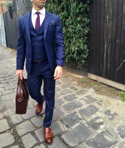 16 Fitting 3-Piece Blue Suit & Brown Suit