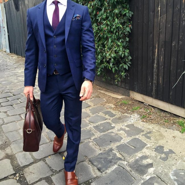 16 Fitting 3-Piece Blue Suit & Brown Suit