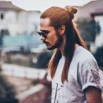 16 Long Hair Part Bun