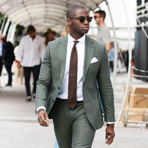 17 Greenish-Grey Fitting Suit