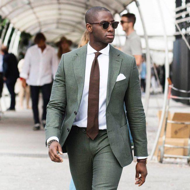 17 Greenish-Grey Fitting Suit