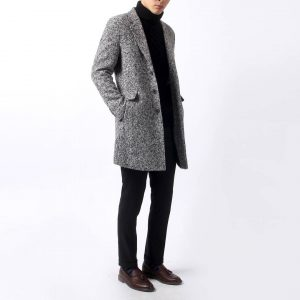 17 Grey Long Coat & Black Trousers