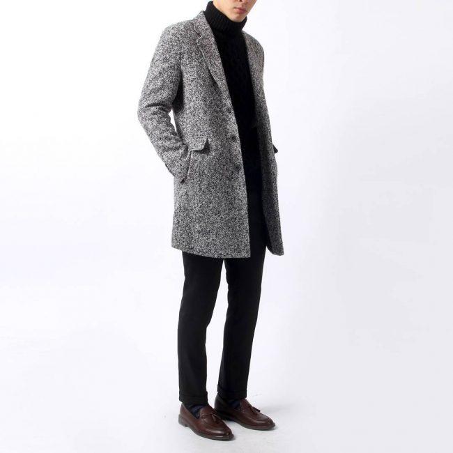 17 Grey Long Coat & Black Trousers