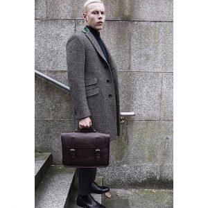18 Designer Grey Long Coat & Grey Trousers
