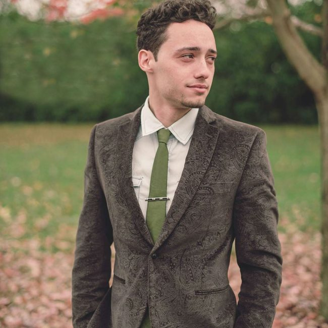 18 Jungle Green Skinny Tie