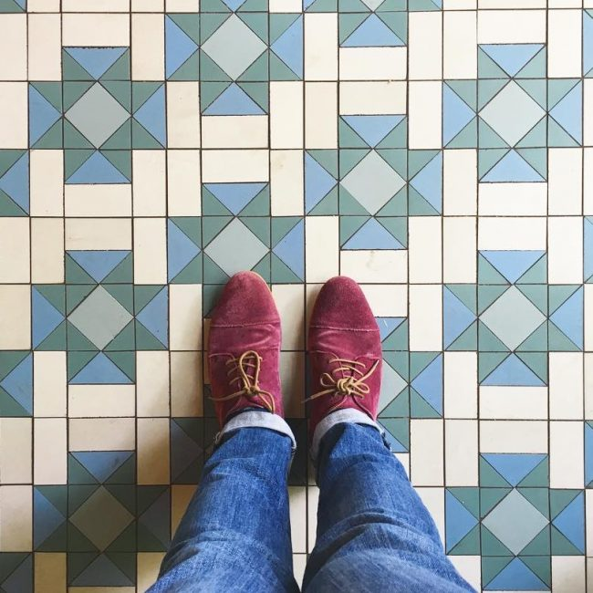 18 Maroon Suede Shoes & Fitting Blue Jeans