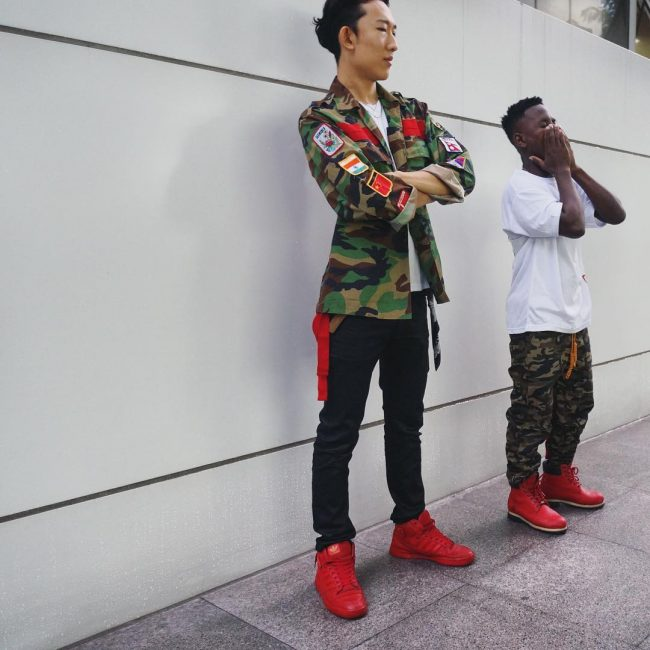 18 Red Timberland Sneakers