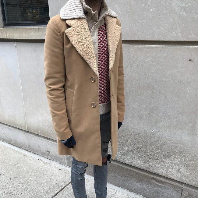 18 Stylish Shearling Coat Look