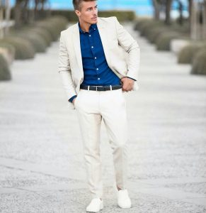 18 White Suit with Matching Canvas