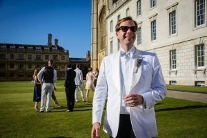 19 Bespoke White Dinner Jacket with Black Trousers
