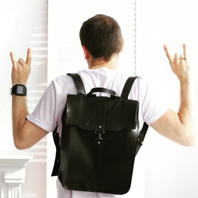 19 Black Backpack & White T-Shirt