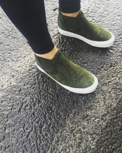 19 Olive Green High Ankle Shoes
