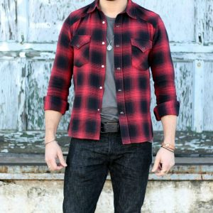 2 Black Warped Flannel Shirt