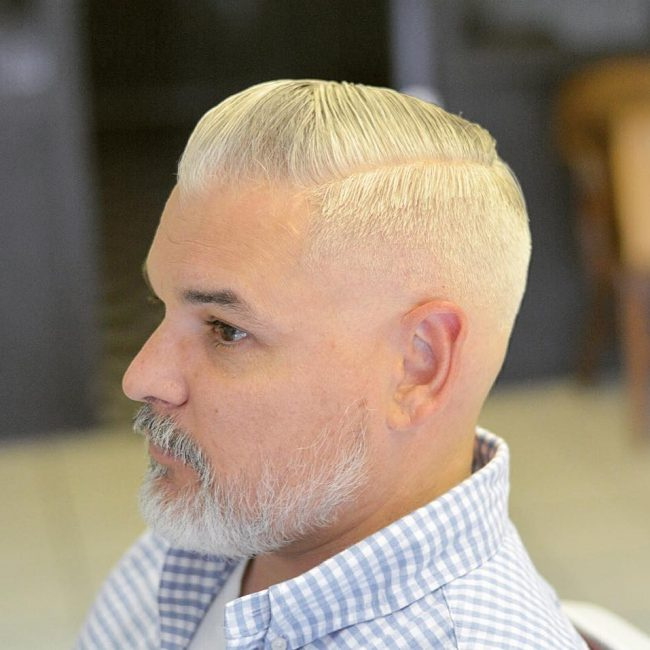 2 Blonde Side Parting