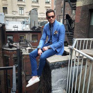 2 Blue Casual Shirt & Slim-Fit Blue Jeans