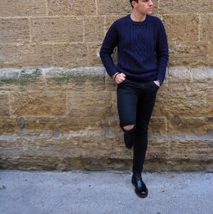 2 Blue and Black Urban Style