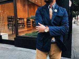 2 Brown Flowered Skinny Tie