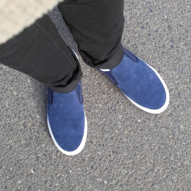 2 Comfortable Navy Slip Ons