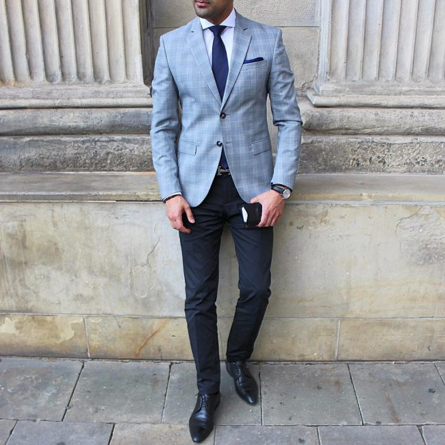 25 ideas for grey jacket and black pants easy and trendy