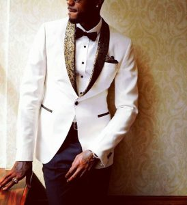 2 White Designer Blazer with Blue Trousers